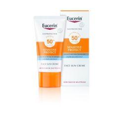 Eucerin Sun Sensitive Protect Слънцезащитен крем за лице SPF50+ 50 мл