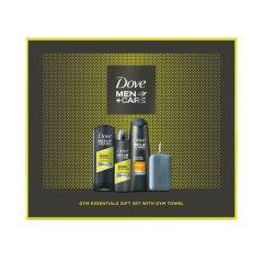 Dove Men+ Care Sport Active+ Fresh Дезодорант против изпотяване за мъже 150 мл + Dove Men+ Care Sport Active+ Fresh Хидратиращ душ-гел за лице и тяло за мъже 250 мл + Dove Men+ Care Шампоан за тънка коса за мъже 250 мл + подарък кърпа Комплект