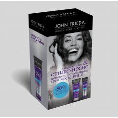 John Frieda Frizz Ease Шампоан за къдрава коса 250 мл + John Frieda Frizz Ease Стилизиращ крем за къдрици 150 мл Комплект