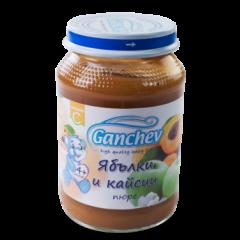 Ganchev Пюре ябълки и кайсии 4М+ 190 гр