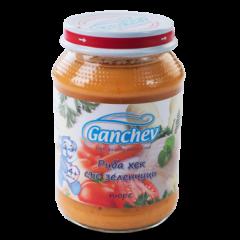 Ganchev Пюре риба хек със зеленчуци 4М+ 190 гр