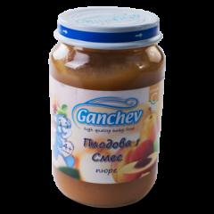 Ganchev Пюре плодова смес 4М+ 190 гр