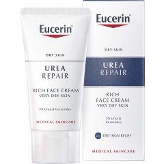 Eucerin Urea Repair Обогатен крем за лице за много суха кожа 5% урея 50 мл