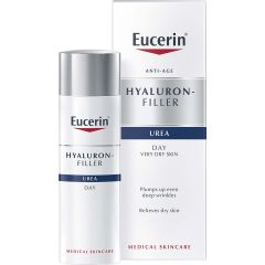 Eucerin Hyaluron-Filler + Urea Дневен крем за много суха кожа с 5% урея 50 мл