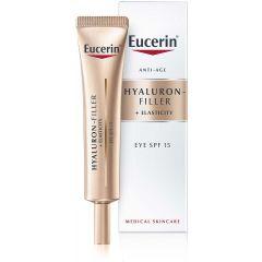 Eucerin Hyaluron-Filler + Elasticity Околооченкрем SPF15 15 мл