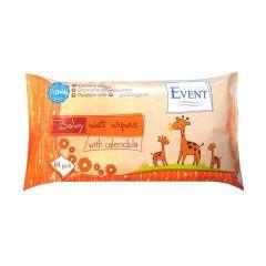 Event Baby Противовъзпалителни бебешки мокри кърпи с невен 64 бр