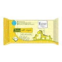 Event Baby Успокояващи и овлажняващи бебешки мокри кърпи с лайка 72 бр