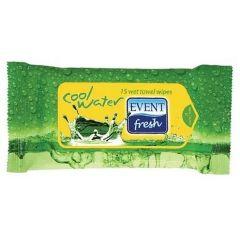 Event Fresh Cool Water Почистващи мокри кърпи зелени 15 бр
