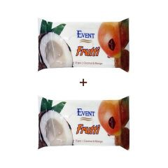 Event Frutti Промо пакет Почистващи мокри кърпи с аромат на манго и кокос 2x15 бр