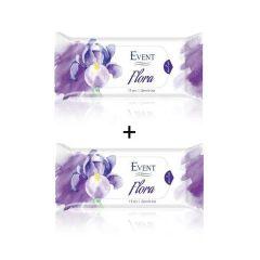 Event Flora Промо пакет Почистващи мокри кърпи с аромат на ирис 2x15 бр