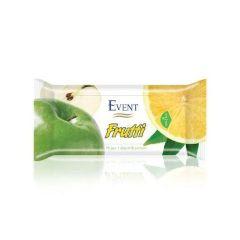 Event Frutti Почистващи мокри кърпи с аромат на ябълка и лимон 15 бр