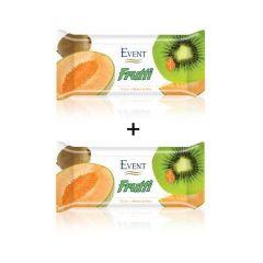 Event Frutti Промо пакет Почистващи мокри кърпи с аромат на пъпеш и киви 2x15 броя