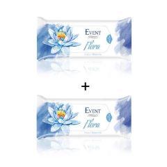 Event Flora Промо пакет Почистващи мокри кърпи с аромат на водна лилия 2x15 бр
