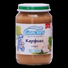 Ganchev Зеленчуково пюре с карфиол, без захар 4М+ 190 гр
