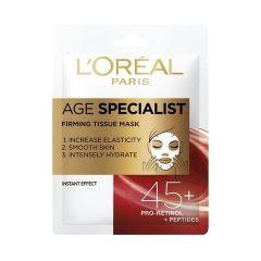 Loreal Age Specialist 45+ Хартиена маска за лице за стегната кожа 30 гр