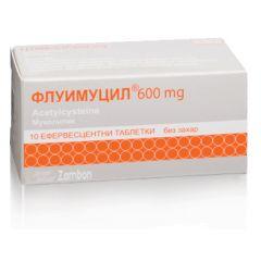 Флуимуцил при кашлица за възрастни 600 мг х 10 ефервесцентни таблетки Angelini
