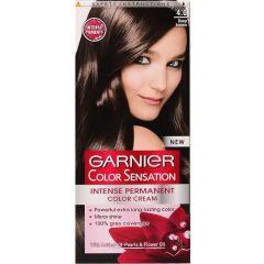 Garnier Color Sensation Трайна боя за коса, 4.0 Deep Brown
