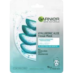 Garnier Skin Naturals Hyaluronic Aloe Хидратираща и освежаваща шийт маска за лице с алое1 брой