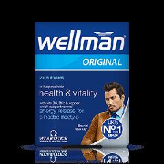 Vitabiotics Wellman Original Витамини за повече жизненост и добро здраве при мъжете x 30 таблетки