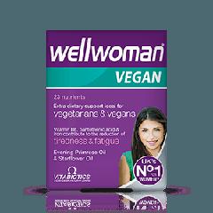Vitabiotics Wellwoman Vegan Витамини за жени на вегетарианска или веган диета x 60 таблетки