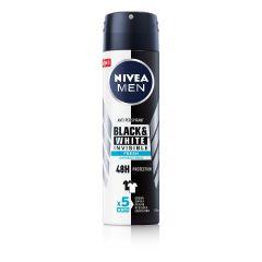 Nivea Men Black & White Invisible Fresh Дезодорант спрей против изпотяване за мъже 150 мл