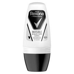 Rexona Men Invisible on Black + White Clothes Рол-он против изпотяване за мъже 50 мл