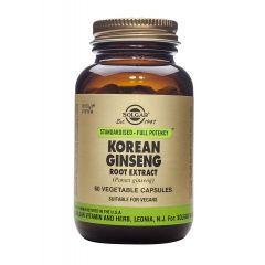 Solgar Korean Ginseng Root Extract Корейски Жен Шен за тонус и енергия х60 капсули
