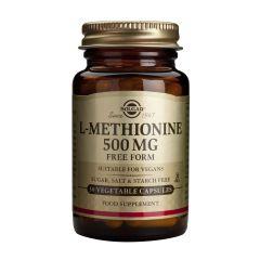 Solgar L-Methionine Л-метионин за здрав черен дроб 500 мг х30 капсули