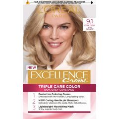 Loreal Excellence  Creme Боя за коса, 9.1 Very Light Ash Blonde