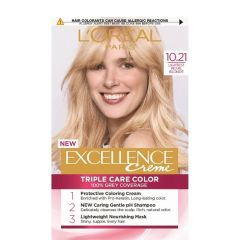 Loreal Excellence Creme Боя за коса, 10.21 Lightest Pearl Blonde