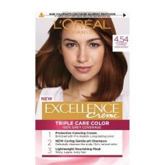 Loreal Excellence  Creme Боя за коса, 4.54 Copper Mahogany