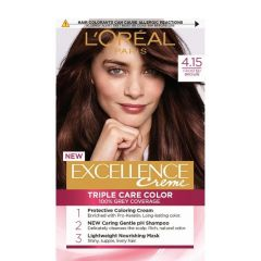 Loreal Excellence Creme Боя за коса, 4.15 Frosted Brown