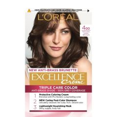 Loreal Excellence  Creme Боя за коса, 400 Natural Dark Brown