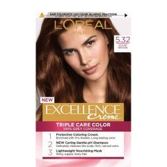 Loreal Excellence  Creme Боя за коса, 5.32 Solar Brown