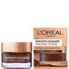 Loreal Smooth Sugar Nourish Подхранващ пилинг за лице и устни 50 мл
