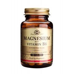 Solgar Magnesium with Vitamin B6 Магнезий и Витамин В6 благоприятства метаболизма x100 таблетки