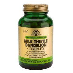 Solgar Milk Thistle Dandelion Complex Бял Трън и Глухарче при чернодробни проблеми х50 капсули