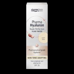 Pharmatheiss Cosmetic Pharma Hyaluron Тониращ анти-ейдж флуид за лице с матиращ ефект SPF20, цвят Light 50 мл