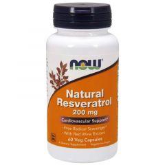 Now Foods Natural Resveratrol Ресвератрол 200 мг х 60 капсули