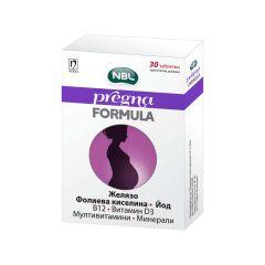 NBL Pregna Formula с фолиева киселина х 30 таблетки Nobel