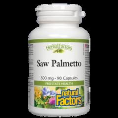 Natural Factors Saw Palmetto Сао Палмето при често и затруднено уриниране 500 мг х 90 капсули
