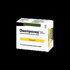 Омепразид при киселини в стомаха 20 мг х 14 таблетки Nobel
