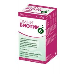 Omni Biotic 6 Синбиотик за чревно здраве 30 дози х2 гр