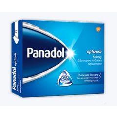 Panadol Optizorb при болка и висока температура 500 мг х12 таблетки GlaxoSmithKline