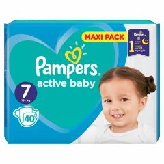 Пелени Pampers Active Baby Maxi Pack Размер 7 XL 40 бр