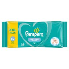 Pampers Fresh Clean Baby Scent Бебешки мокри кърпички XXL 80 бр
