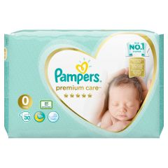 Пелени Papmpers Premium Care Размер 0 30 бр