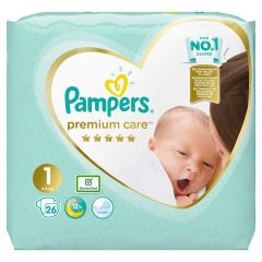 Пелени Papmpers Premium Care Размер 1 New born 26 бр