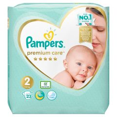 Пелени Papmpers Premium Care Размер 2 Mini 23 бр