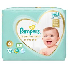 Пелени Pampers Premium Care Размер 6 XL 38 бр